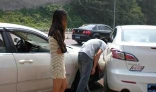 美女为搭讪故意撞车 毁坏财物如何处罚