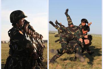 女子特战连训练剪影 军人入伍的要求 图 高清图片