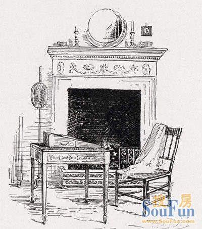英国传统服装简笔画